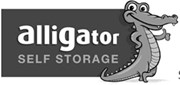 Alligator Self Storage black and white logo