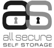 All Secure Self Storage black and white logo