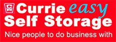currie easy self storage nice people to do business with logo