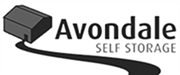 avondale self storage black and white logo