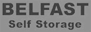 belfast self storage black and white logo