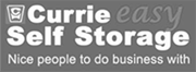 currie easy self storage black and white logo