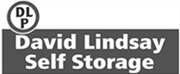 David lindsay self storage black and white logo