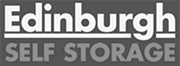 edinburgh self storage black and white logo