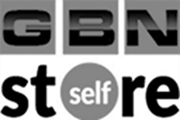 gbn slef store black and white logo