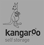 kangaroo self storage black and white logo