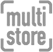 multi store black and white logo