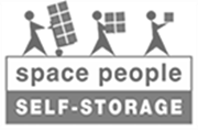 space people self-storage black and white logo 1
