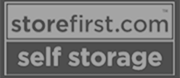 store first self storage black and white logo