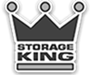 storage king black and white logo