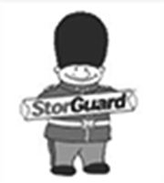 stor guard black and white logo