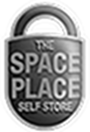 The Space Place Self Storage black and white logo