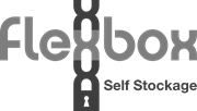 flexbox self-storage black and white logo