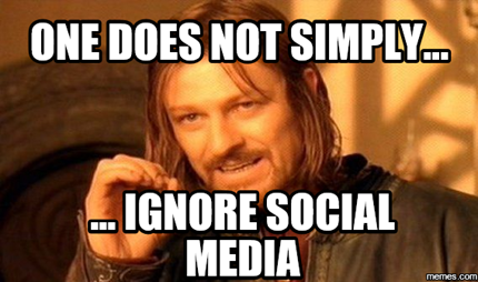 do not ignore social media meme